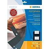 Herma 7786 Fotophan Fotohüllen (für max. 40 Fotos im Format 10x15cm, 10 Sichthüllen, inkl. Beschriftungsetiketten) schwarz, für alle gängigen Ordner und Ringbücher