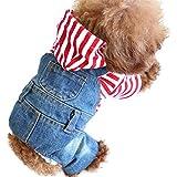 SILD Coole Vintage Washed Denim Jacke Jumpsuit Blau Jean Kleidung für kleine Haustiere Hund Katze/3 Styles XS-XXL