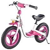 Kettler Laufrad Spirit Air Princess 2.0 – das ideale & verstellbare Lauflernrad – Kinderlaufrad mit Reifengröße: 12,5 Zoll – mit Luftbereifung – stabiles & sicheres Laufrad ab 3 Jahren – pink & weiß