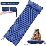 Luftmatratzen Camping Schlafmatte Isomatte Aufblasbare Pad für Outdoor Reisen wasserdichte Luftmatratze Blau von WEINAS