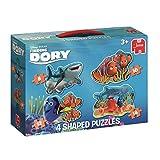 Jumbo Spiele 19631 - Disney Finding Dory 4-in-1 Konturenpuzzle 8/10/12/14 teile