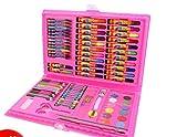 Farbiger Malstift 86 Stück Aquarell Pinsel Stifte Set für Kinder Kinder (Pink Case)