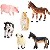 LEORX Bauernhof Tierfiguren Spielzeug - 6pcs