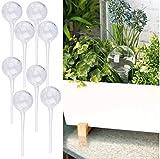 Royal Gardineer Blumen-Bewässerung: 8er-Set Gießfrei-Bewässerungs-Kugeln aus Glas, transparent, Ø 6 cm (Wasserspender für Pflanzen)