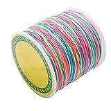 ROSENICE 100m Schmuckherstellung Schnur Perlen Kordel 1mm elastische bastelschnur für Armbänder Halsketten Schmuck Handwerk