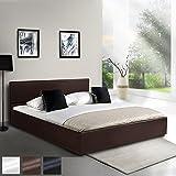 Kunstlederbett 160x200cm mit integriertem Lattenrost und Bettkasten in 3 verschiedenen Farben