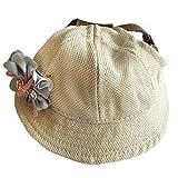 MagiDeal Verstellbarer Rund Hut Kappen Mütze für Sunbonnet Haustier-Hut Hunde Welpen - Blaue Blumen, S