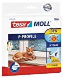 tesamoll Gummidichtung für Fenster und Türen, weiß, CLASSIC, P-Profil, 10m