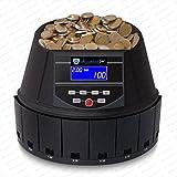 Münzzähler Euro Geldzählmaschine Münzen Münzzählmaschine SR-1450 LCD von Securina24 (Schwarz - BBB)