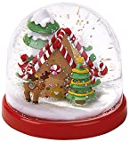 moses. Schneekugel, Kunststoff, Rot, 8.8 x 8.8 x 8 cm