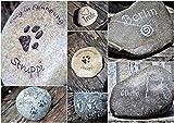 Gedenkstein Grabstein für Katzen, Tiergedenkstein, Gravur auf Naturstein, Andenken,