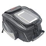 Motorradtasche / Satteltasche, wasserdicht, magnetischer Verschluss, Schwarz, für Harley Davidson, usw. M Schwarz