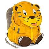 Affenzahn Kinder-Rucksack mit Brustgurt für 3-5 jährige Jungen und Mädchen im Kindergarten oder Kita der große Freund Theo Tiger - gelb