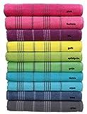 Betz Badetuch XXL Strandtuch LINES 100% Baumwolle verschiedene Farben Größe 90 x 180 cm Farbe türkis
