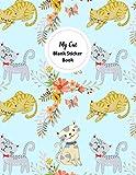 My Cat Blank Sticker Book: Cat Themed Blank Sticker Book Sticker Album Book Large Size 8.5x11 100 pages