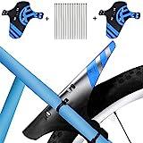 KOBWA Mudguard MTB Fahrrad, 2 Stücke Schutzblech Spritzschutz-Set Einstellbare Vorne Hinten Mountainbike Mudguard mit 12 Kabelbinder für 26',27',27.5',29' Mountainbike Mud Guard