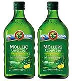 Möller's Omega-3 Lebertran Zitrone (250ml) - 2-Pack