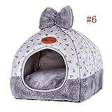 Nibesser Hundebett Hundehöhle Katzenbett Hundekorb Kuschelhöhle weich warm Waschbar für Kleine Mittelgroße Hunde Katzen