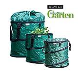 Der Grüne - 3x Gartensack, Pop-up, verschließbar, fester Boden, sehr robust