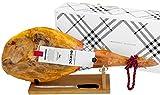 Serrano Schinken (Vorderschinken) Reserva + Schinkenhalter + Messer 4,5 - 5 Kg | Spanischer Schinken