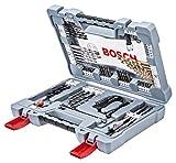 Bosch 2608P00234 Bits/Bohrer Premium Set, Betonbohrer, Fliesenbohrer, Universalhalter, Tiefenstopp, Ratschenschrauber Titan-Nitrid-Beschichtung im stabilem Koffer, 76-teilig