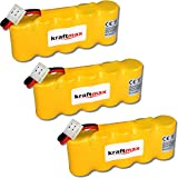 3x Kraftmax Akku für Bosch SOMFY K8 K10 K12 - 6V / 2000mAh NIMH - Hochleistungs- Akku mit über 42% mehr Leistung gegenüber den Akku mit 1400 mAh