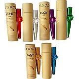6 Stück Kazoo Kazoo Set aus Metall 6 Kazoo Membran Metallkazoo Musik in 6 Farben, Original in Pappröhre verpackt