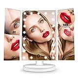 HAMSWAN Kosmetikspiegel, 3 Seiten Make-up-Spiegel Schminkspiegel rasierspiegel
