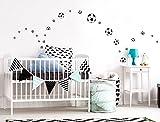 I-love-Wandtattoo WAS-10133 Kinderzimmer Wandsticker Set 'Fußbälle' 25 Stück zum Kleben Wandtattoo Wandaufkleber Sticker Wanddeko