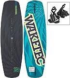 WAKETEC Wakeboard WildRide 138 cm OnSet Package mit leichter Universal-Bindung, Größe:L-XL