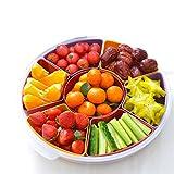 KUN PENG SHOP Gitter bedeckt mit Trockenfrucht Pfanne Süßigkeiten Gericht getrocknete Obst-Box Wohnzimmer Snack Platte Melone Samen Gericht kreative Obst Platte A+