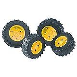 bruder 03314 Zwillingsbereifung mit gelben Felgen, Premium-pro