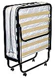 BFLYSHOP Gästebett klappbar 80X200 cm mit stabilem Metall-Rahmen Klappbett Faltbett bis 120 kg Raumsparbett incl. Matratze H. 11 cm, 80 x 200 cm