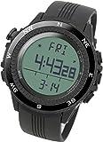 LAD-WEATHER Höhenmesser-Barometer-Digitaler-Kompass Thermometer Countdown-Timer-Alarm-Stoppuhr-Weltzeit Klettern-Trekking-Camping-Wandern-Draussen-Uhr