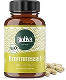 Brennnessel Kapseln Bio (150 Stück) - 450mg je Kapsel - Brennesselblatt Pulver - Urticae folium - Höchste Reinheit - Hergestellt und kontrolliert in Deutschland (DE-ÖKO-005) - 100% Vegan