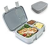 Bentgo Fresh - Auslaufsichere Lunchbox | Bento Box mit 4 Unterteilungen, Grau