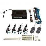Zentralverriegelung, Komplett Set, 4-türig, incl. 2 Klappschlüssel mit Funk, 4 Stellmotoren