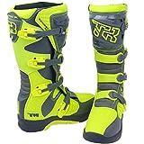 XSWE Off-Road Racing Boots, Anti-Rutsch-und Anti-Wrestling-Radschuhe für Männer und Frauen für Schuhe Racing Road Racing Cruising Riding Sport,Yellow,UK6(EU39)
