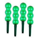 Garden Innovations Aqua Balance Pflanze gießen Spikes und Globes mit Wetter/Temperatur gesteuerte (4Stück), Garten grün, 1,25Liter