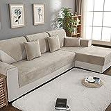 DW&HX Sofa abdeckung wasserdicht Für haustier hund Anti-rutsch Water resistant Sofa Überwurf Sofa throw Schnitt Multi-size-Khaki 90x120cm(35x47inch)
