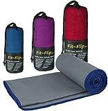 Fit-Flip Microfaser Handtuch - Premium Selektion -100x200-gray-darkblue