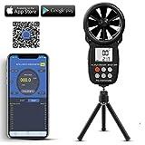 Digitaler Windmesser Handheld Windgeschwindigkeitsmesser mit APP-Datenlesung,drahtloser Bluetooth-Flügelrad-Windmesser für Windkälte