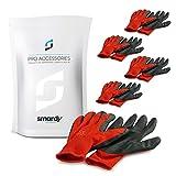 SMARDY 5 Paar Arbeitshandschuhe Montagehandschuhe Größe M (8) robuste Schutzhandschuhe mit Latex