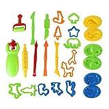 NaiCaisy Knete Werkzeug Kinder Lehm Werkzeug DIY Schlamm-Werkzeug-sicheres Form-gesetztes Lehm-Farb Umweltschutz (26pcs)