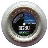 BG-80 Yonex 200 m Rolle Badminton Schläger Saite weiß Wow - All-In-One-Outlet-24 -