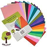 OfficeTree Seiden-Papier 300 Blatt A4 - 20 Farben - mehr Spaß am Basteln Gestalten Dekorieren - Skizzen- und Zuschnitt-Papier - 16 g/qm Premium-Qualität