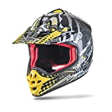 NENKI NK-303 Kinder Motocross Offroad Helm Für Kinder Dirt Bike (L 53-54CM, Schwarz Grün)