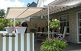 LECO Vlexy PlusTerrassenüberdachung 3 x 4 m Standmarkise Beige Sonnensegel Beigetöne