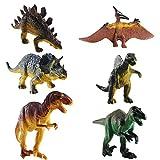 FOGAWA Dino Spielzeug 6 Pcs Dinosaurier Spielzeuge Pädagogisches Spielzeug Dino Figuren Tyrannosaurus Rex Triceratops Spinosaurus Utahraptor Pteranodon Corythosaurus für Kinder