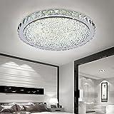 ETiME Deckenleuchte Kristall LED Deckenlampe Rund Wohnzimmer Schlafzimmer Esszimmer Lampe (54W Ø62cm kaltweiß)
